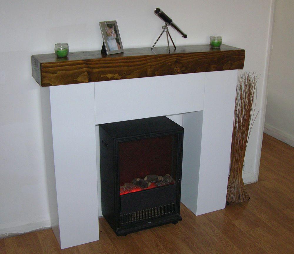 Modern Chunky Fire Surround (Dark Oak Sleeper Mantle) | Fire ...