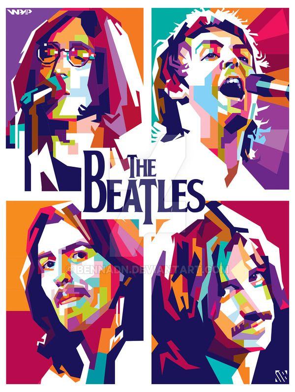The Beatles WPAP By Bennadndeviantart On DeviantArt