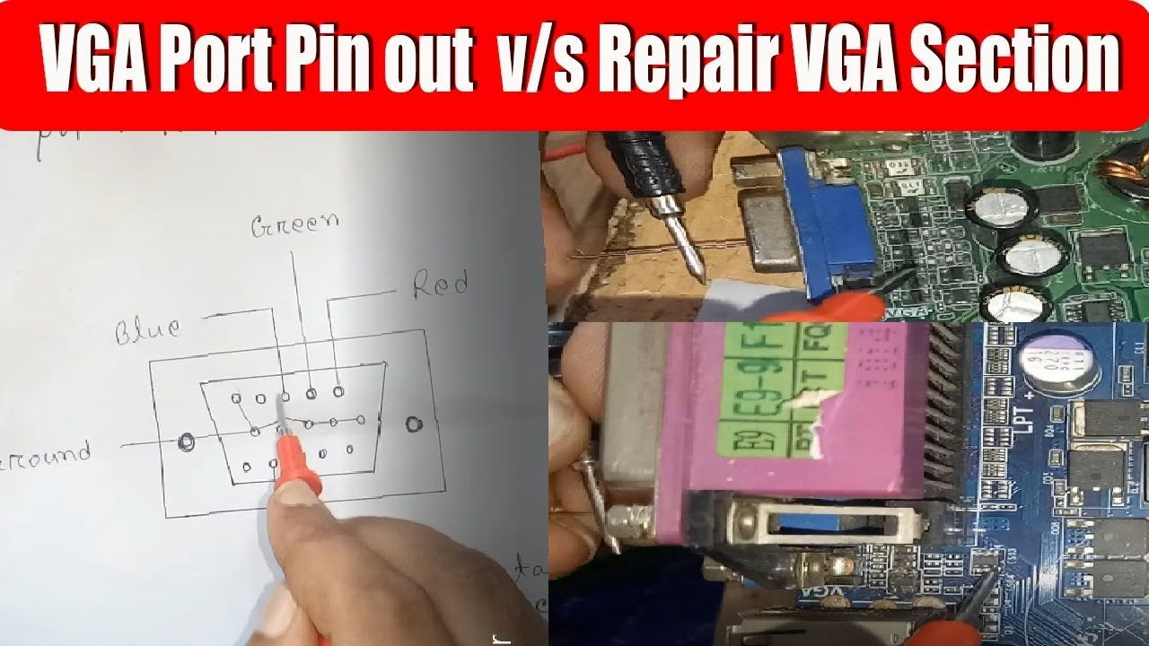 how to repair Desktop Motherboard VGA Port in Bangla | VGA