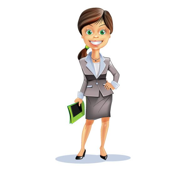 Attractive Business Woman Vector Character Vector Characters Business Women Girl Cartoon Characters Vector Character