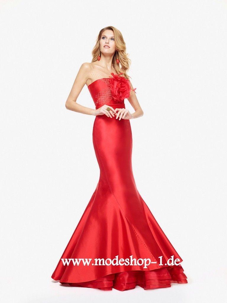 Rotes Satin Meerjungfrau Abendkleid Online | Rote Kleider online ...