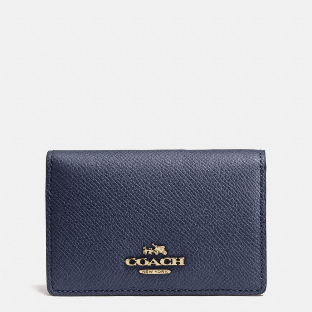 Coach business card case in crossgrain leather coach bags coach business card case in crossgrain leather coach bags leather colourmoves