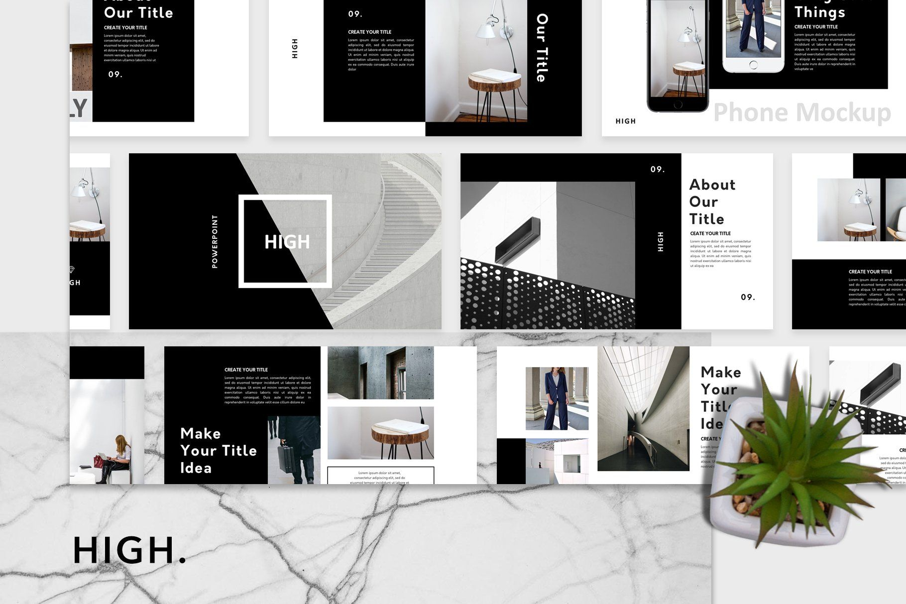 High Powerpoint Template By Maspiko By Letterhend On