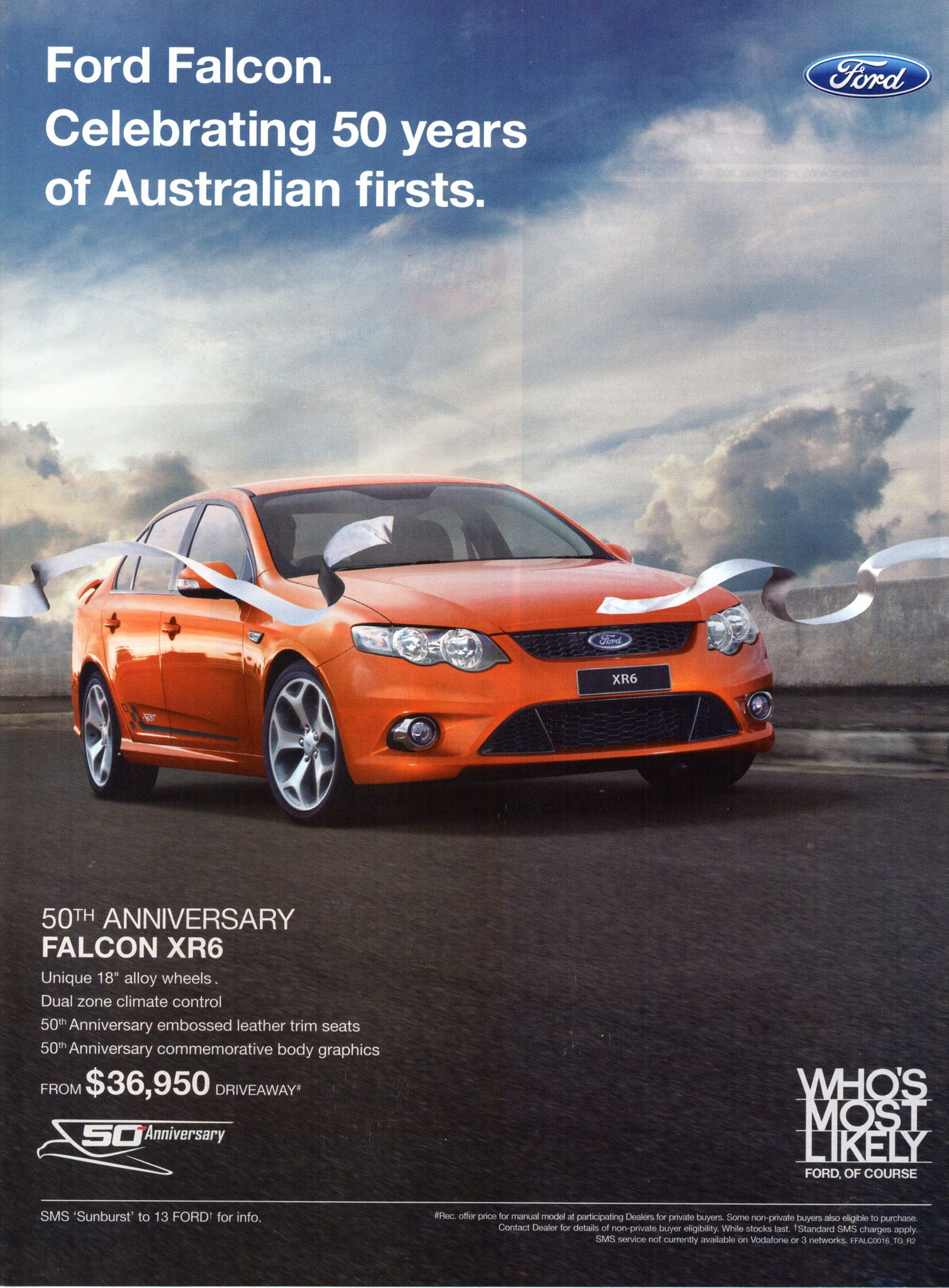 2010 Fg Ford Falcon Xr6 50th Anniversary Aussie Original Magazine