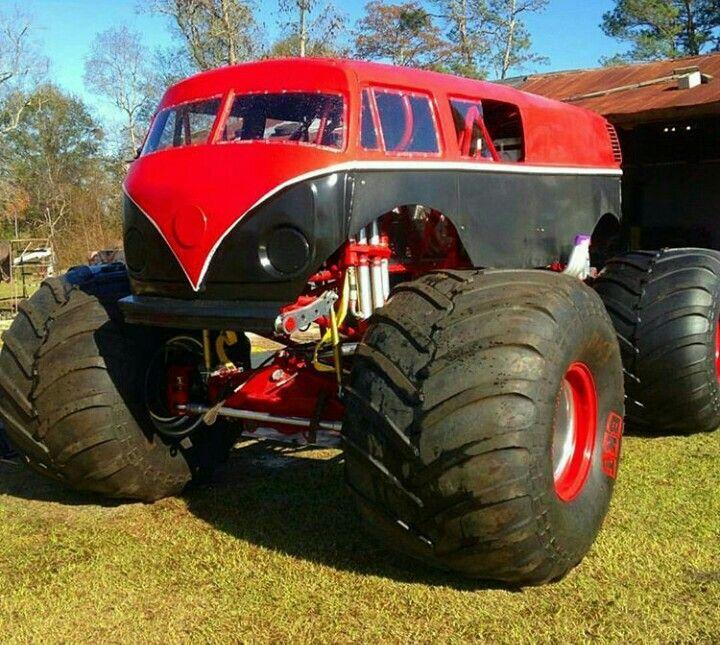 Vw Bus Monster Truck Favorite Cars Pinterest Monster Trucks