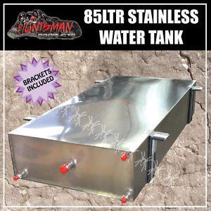 Caravan Camper Trailer 4wd 85 Litre Stainless Steel Water Tank Brackets 1mm Ebay Water Tank Steel Water Tanks Cargo Trailer Camper