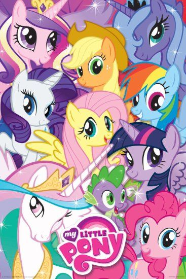 Aquarius My Little Pony Collage Poster, 24-Inch by 36-Inch $10.90