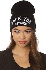 BOTB by Hellz Bellz The Very Much Beanie in Black #MissKL #misskl #missklcoachella
