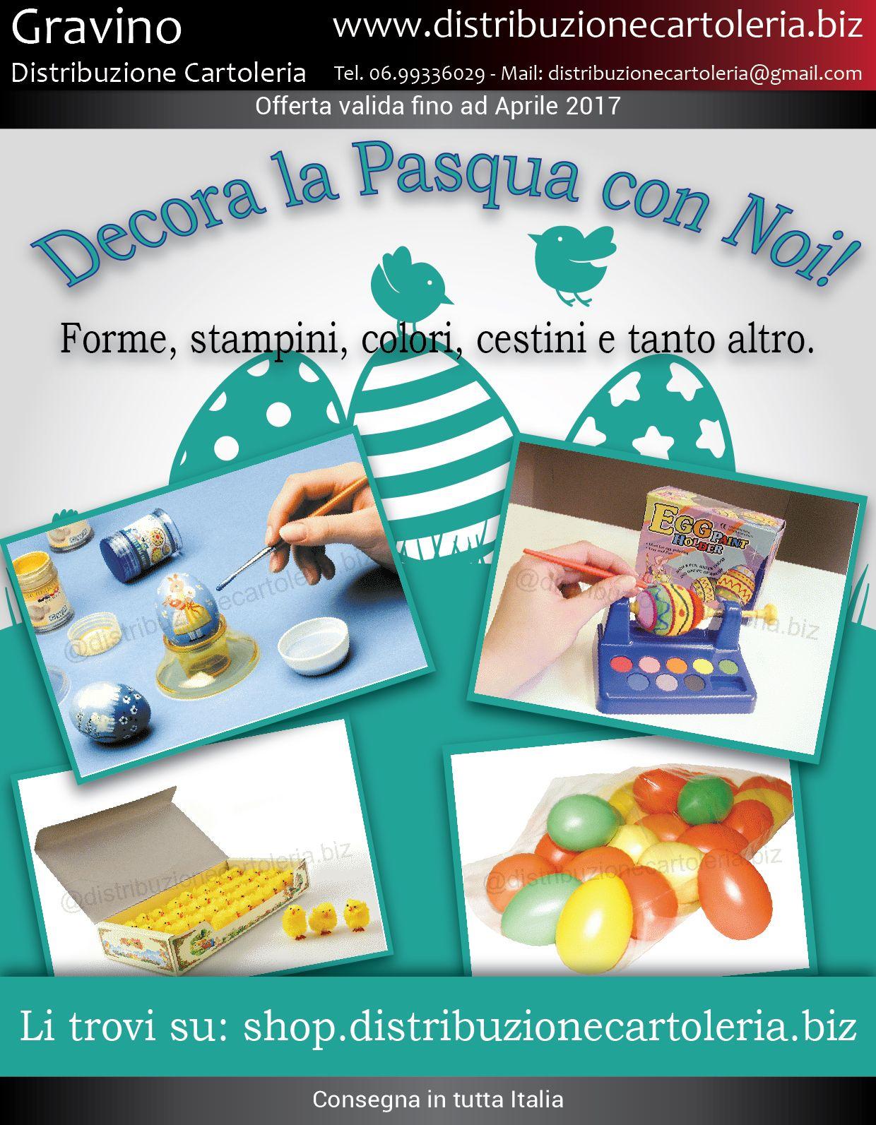 SIAMO PRONTI PER LA PASQUA. E VOI? Prodotti disponibili con consegna in tutta Italia Per vedere i prezzi clicca qui: http://shop.distribuzionecartoleria.biz