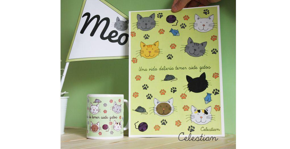 Cosas bonitas para amantes de los gatos. Colección disponible en www.celestianshop.com #gato #catlover #amorgatuno #pinterest