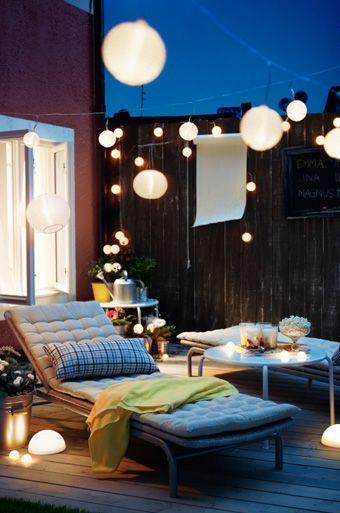 Lichterkette Balkon Sommer : inspiration garten terrasse balkon outdoor sommer ~ A.2002-acura-tl-radio.info Haus und Dekorationen