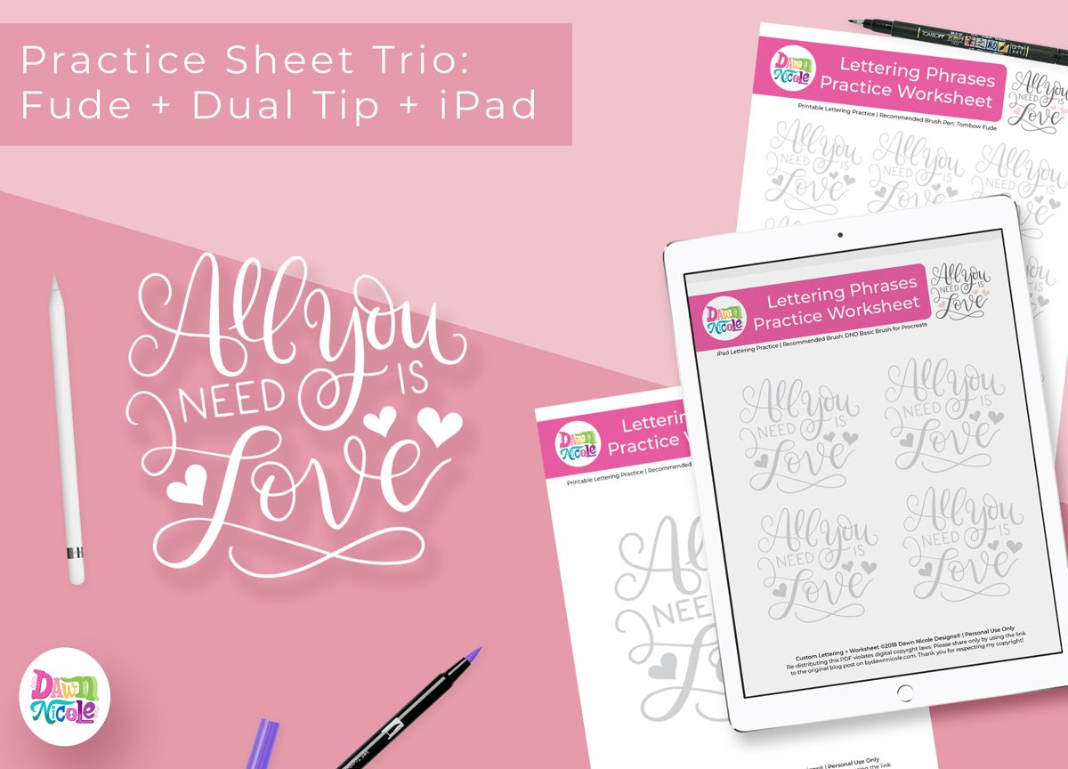 All You Need Is Love Practice Sheets