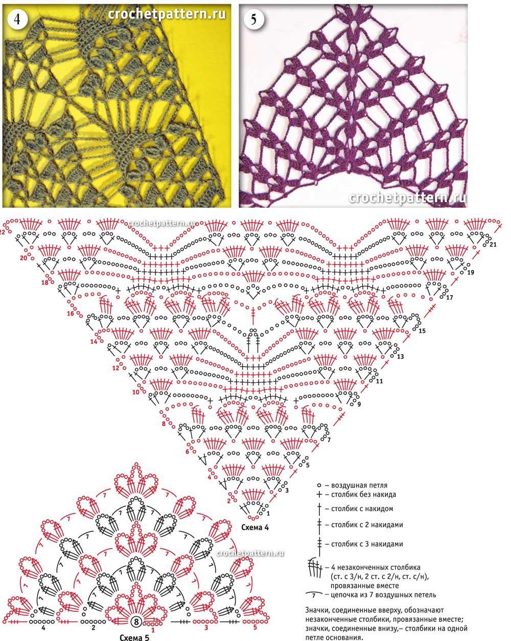 Página №13 com padrões para crochet. | crochet symbols | Pinterest ...