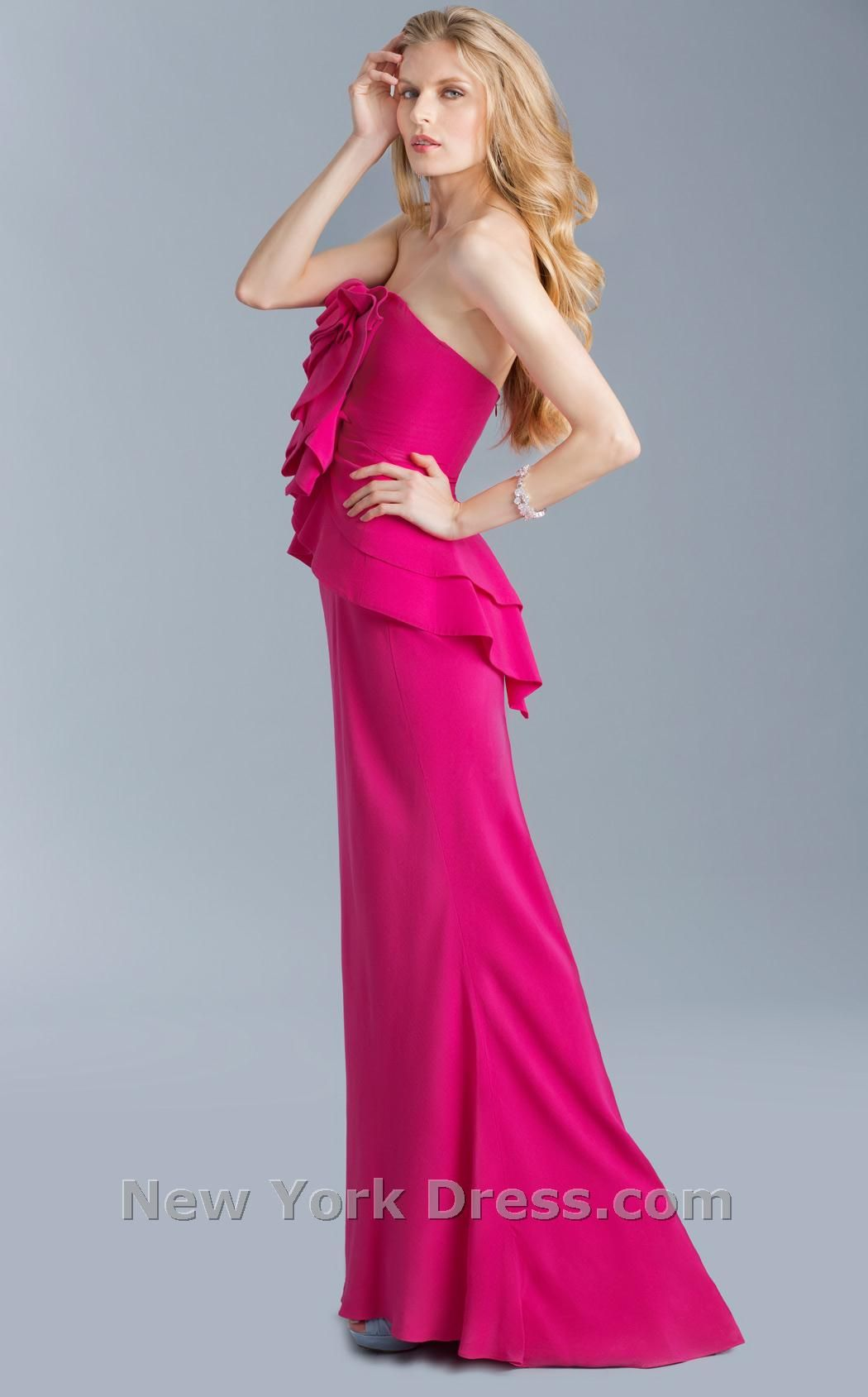 Textured Peplum Gown by ABS from newyorkdress.com - 39 people liked ...