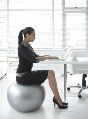 you may be thinking of swapping your desk chair for an exercise
