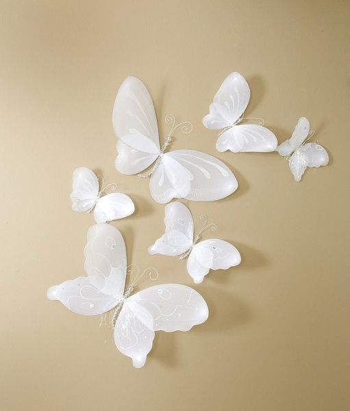 Decorate Your Home Wall With This Beautiful White Butterfly