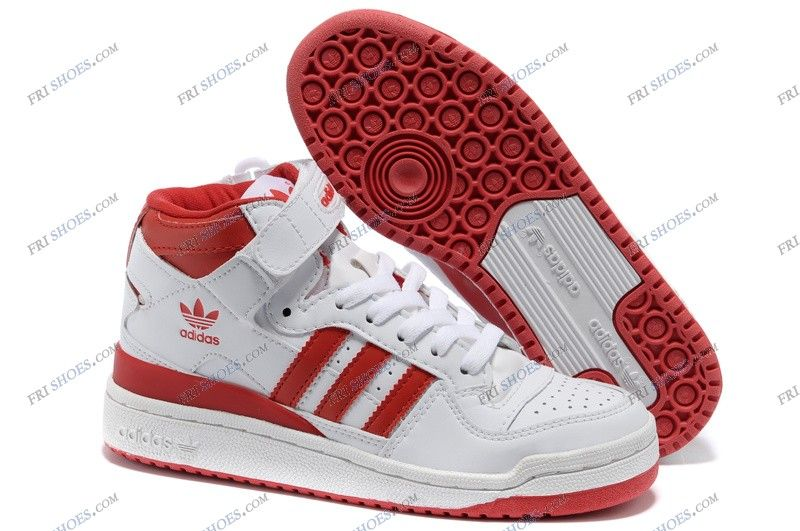 Adidas Forum Mid White Red Mens Basketball Shoes adidas shop Regular Price  12500 Special Price