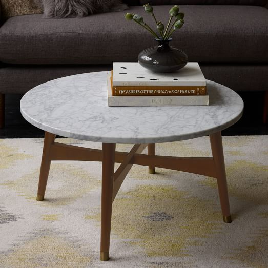 Reeve MidCentury Coffee Table Marble Mid Century Coffee Table - West elm side table sale