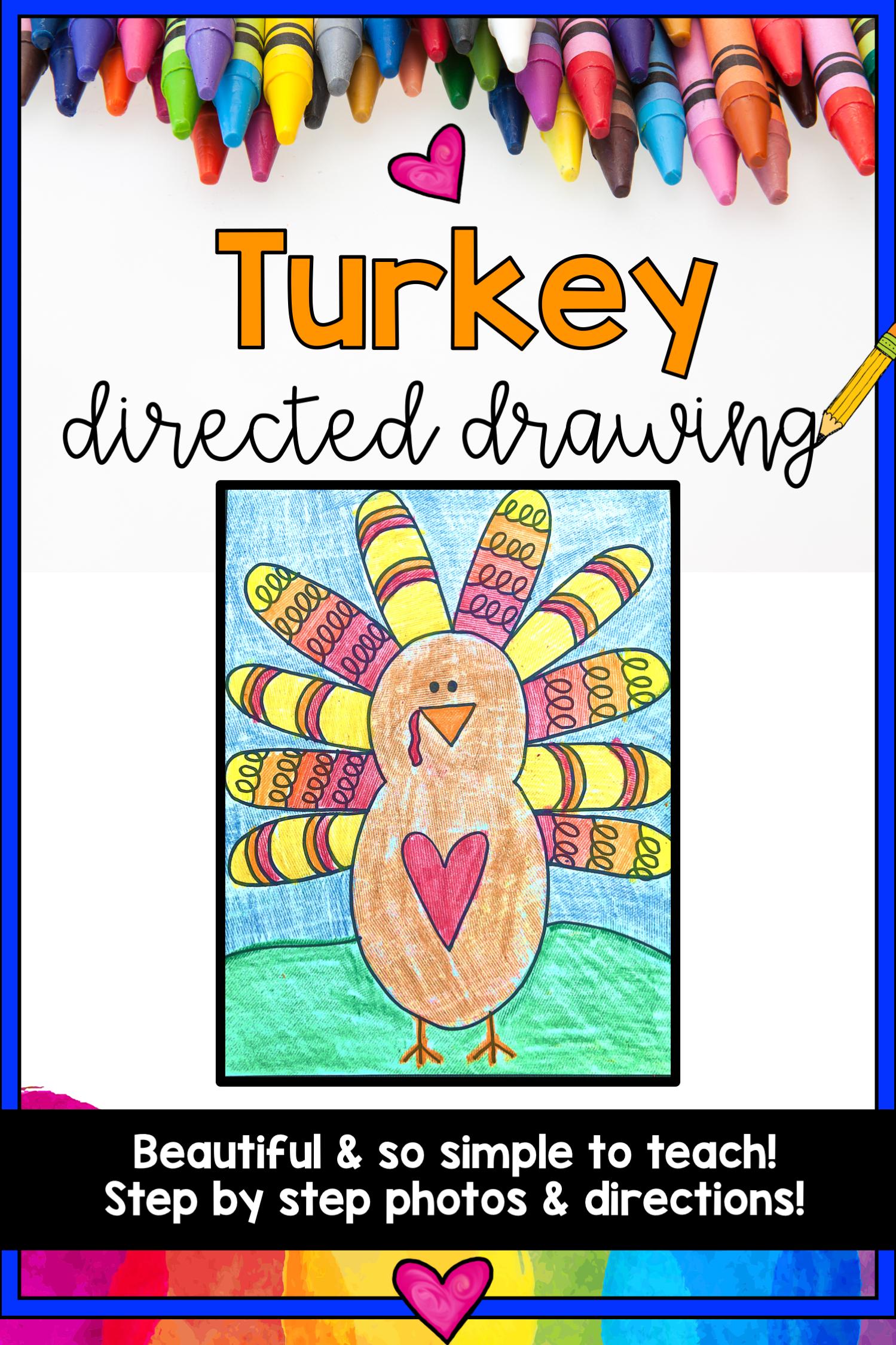 Turkey Directed Drawing ... Thanksgiving ... November ... Fall ...