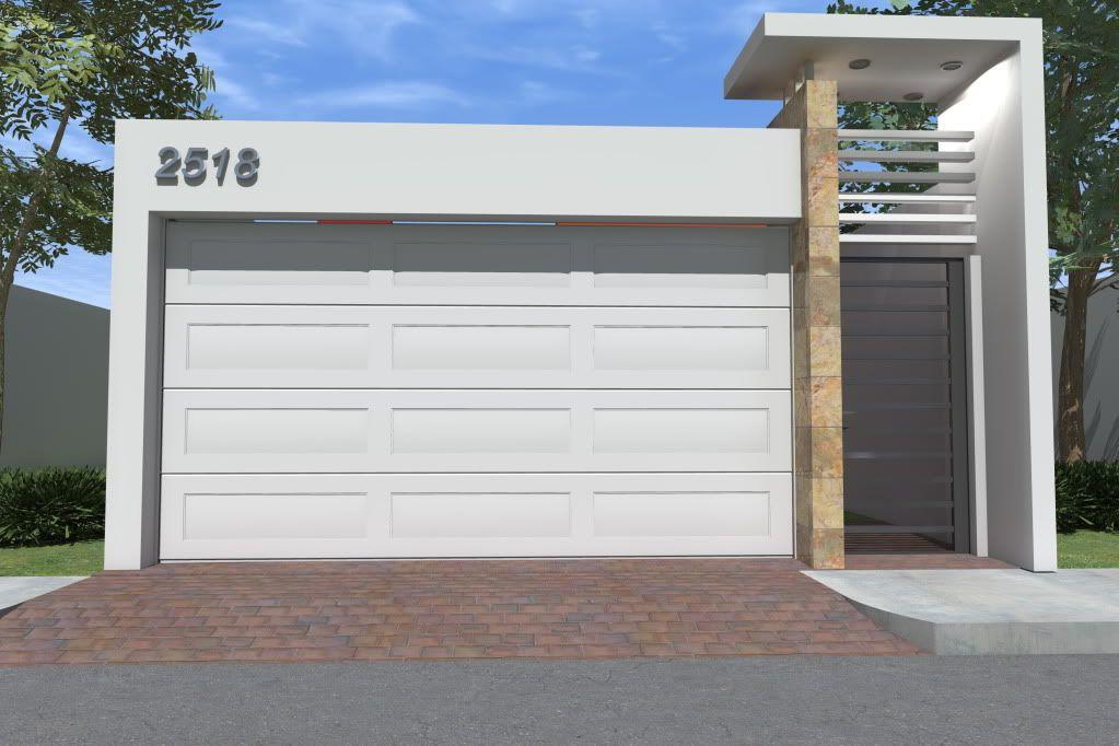 Diseno cocheras casas infonavit 8 ideas para el hogar for Cocheras minimalistas