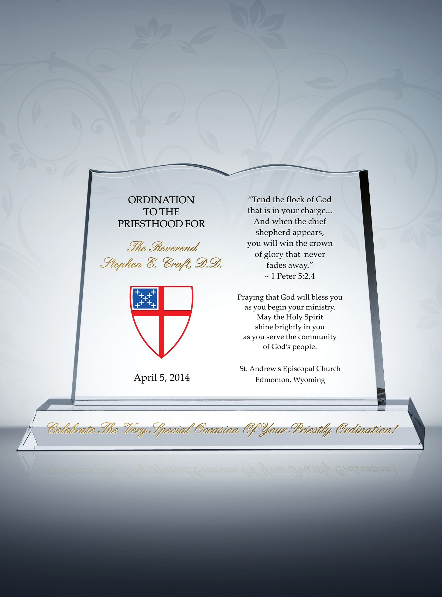 Episcopal Ordination Gift Plaques | Pastor Gift Plaques ...