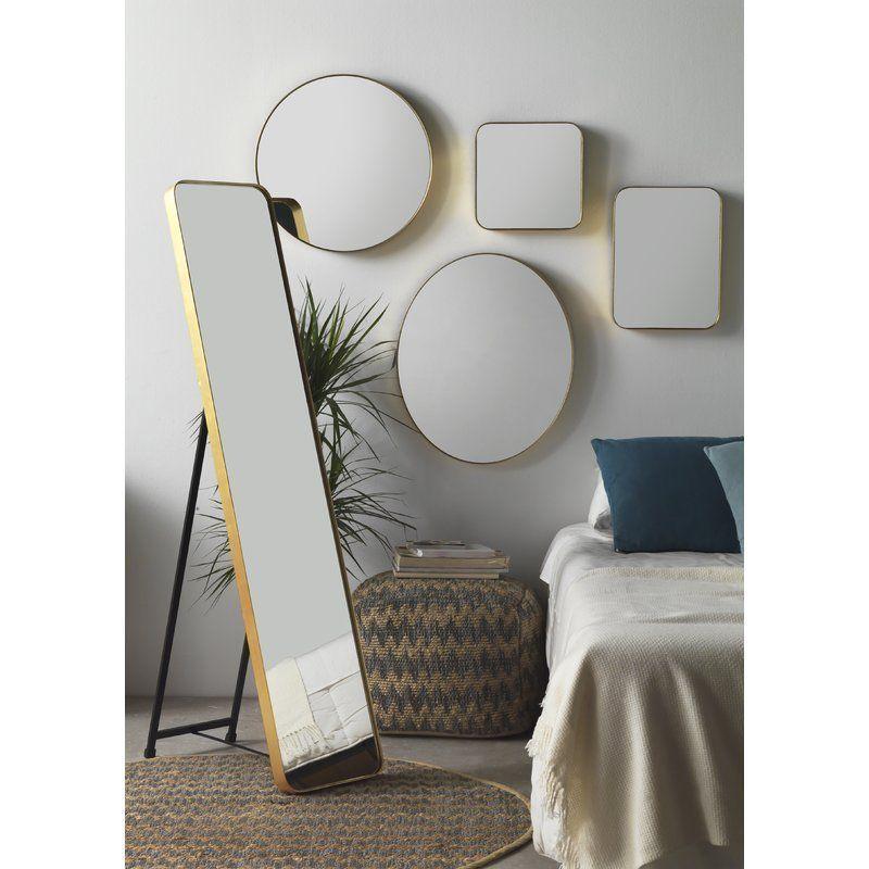 Full Length Mirror Freestanding Rectangular Wood Gold Frame Living Room Bedroom Mirror Wall Mirror Full Length Mirror Wall #rectangular #mirrors #for #living #room