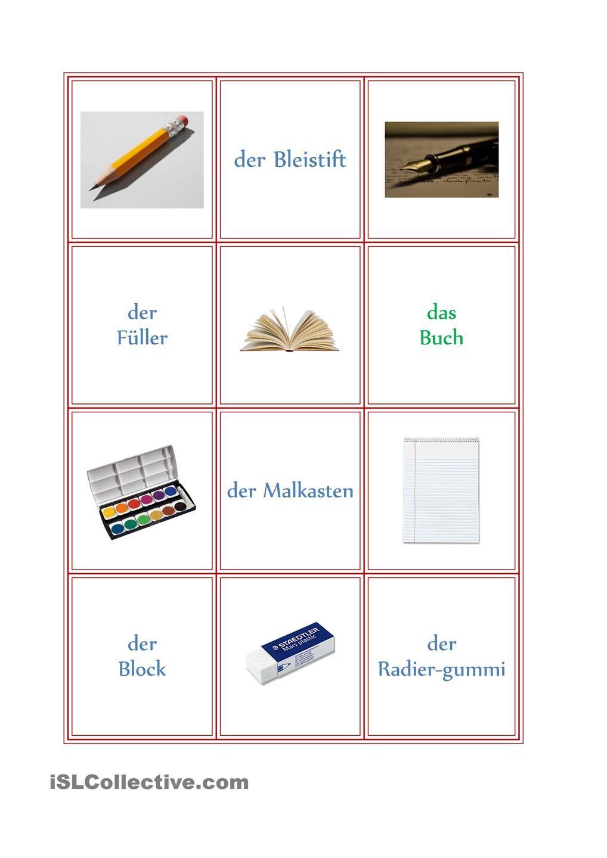 memory schulsachen schule deutsch schule und schulsachen. Black Bedroom Furniture Sets. Home Design Ideas