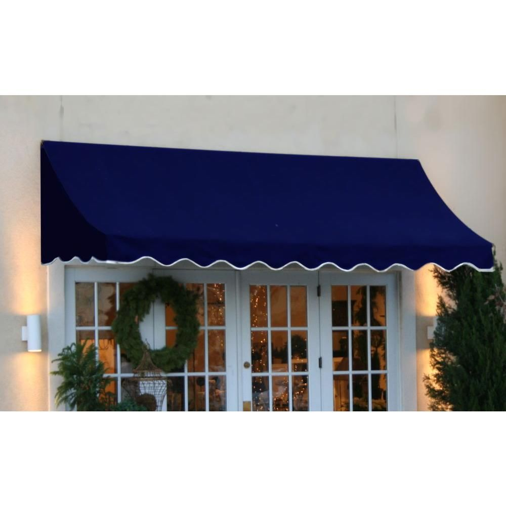 trieste blue retractable com products awnings the retractableawnings drop awning residential window side arm