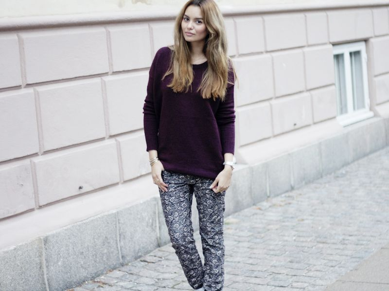 Blogger Funda looking lovely in mbyM knit. #byfunda