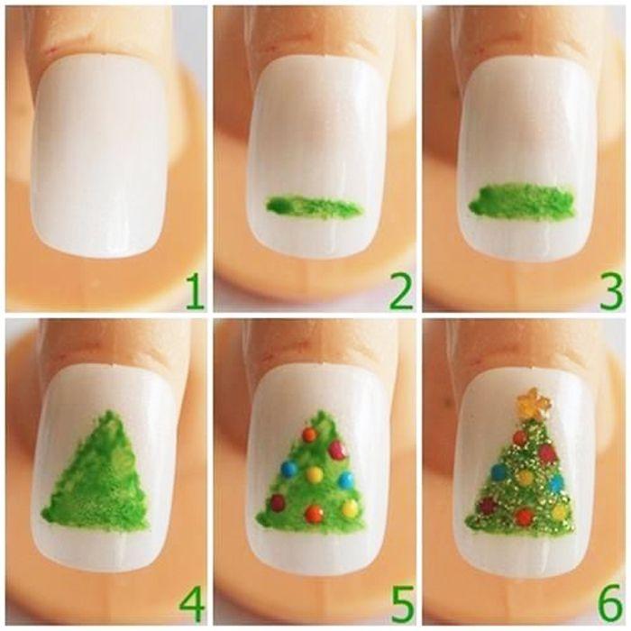 DIY uñas navideñas para principiantes – bricolaje, diseño de uñas – ZENIDES  – Peinados facile