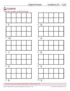 Printables Ten Frame Worksheet 1000 images about math ten frames on pinterest number words coach and student