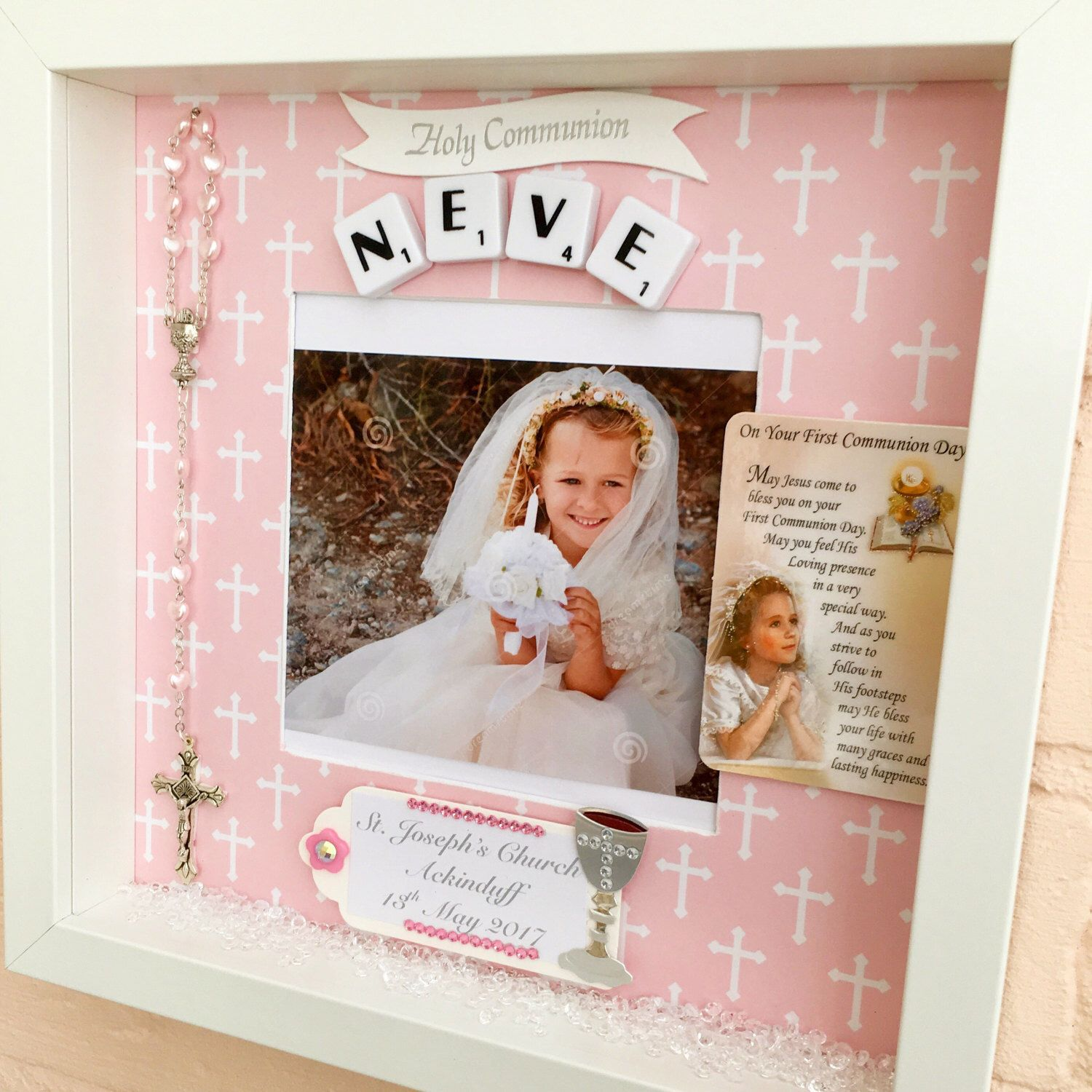 Picture frame gift for communion