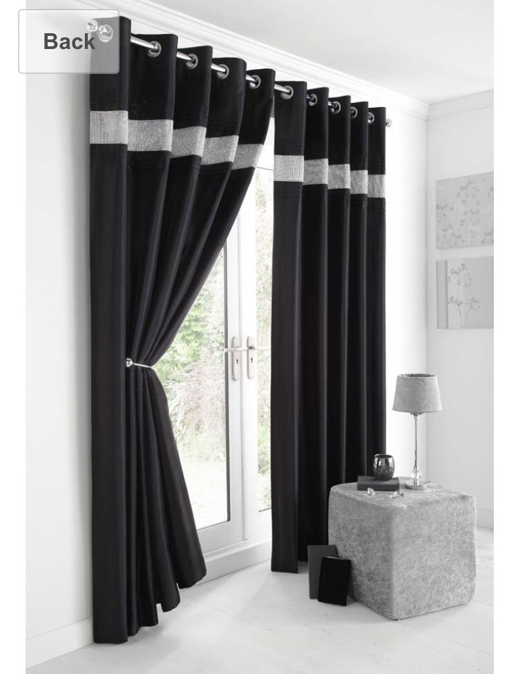 Http Www Amazon Co Uk Black Silver Diamante Curtains