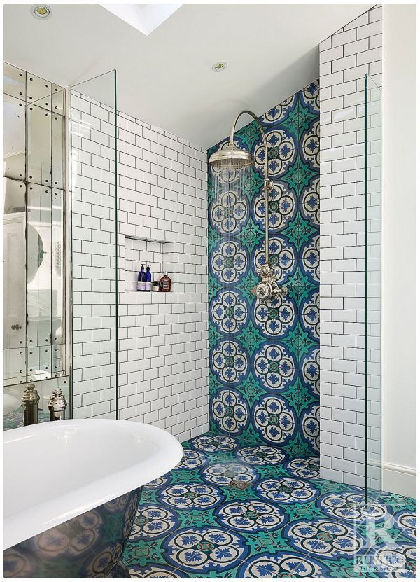 cement tile bathroom floors rustico
