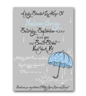 """Sweet Baby Showers!"" Baby Shower Invitations (Boy)"