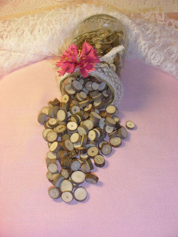 Rustic Wedding Vase Filler Table Scatter Confetti Tree Branch
