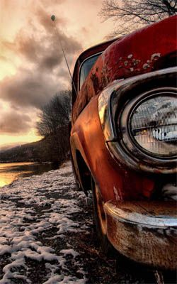 Abandoned Car In River Side Preview Car Wallpapers Animals Images Wallpaper Pc