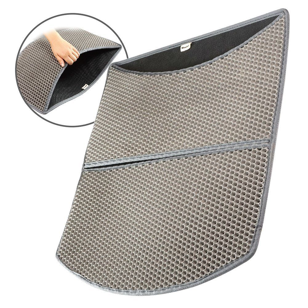 Cat Litter Mat Large 24 x Scatter Control Kitty Litter Mats for Cats Tracking Litter Out of Litter Box ** Awesome cat product. Click the image  Cat litter  sc 1 st  Pinterest & Woocat! Cat Litter Mat Large 24 x 22 Scatter Control Kitty Litter ... Aboutintivar.Com