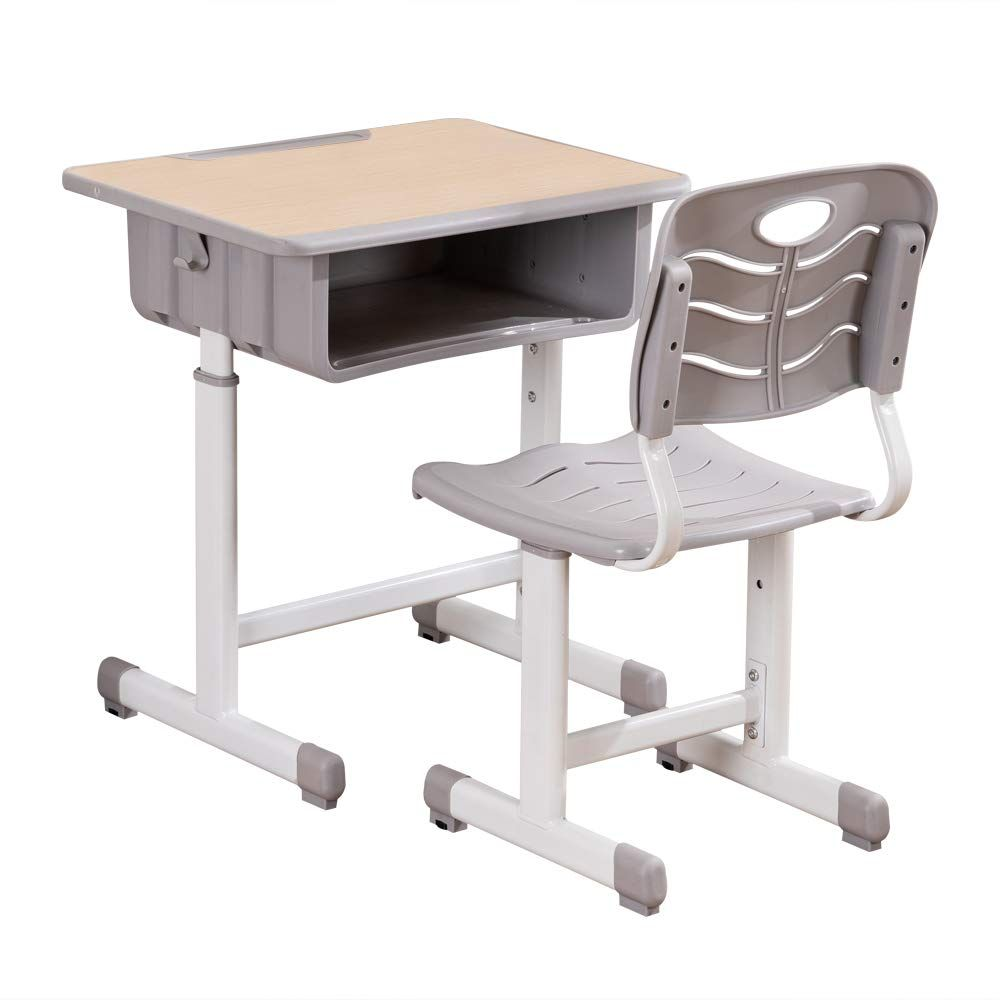 Showmaven Student Desk And Chair Combo Height Adjustable Children S Desk And Chair Workstation With Dra Childrens Desk And Chair Desk And Chair Set Desk Chair