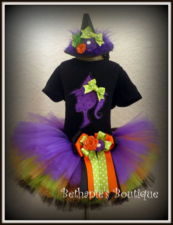 Witch Halloween Tutu costume Barbie Witch Girl by TooTuTuCute (this - halloween tutu ideas