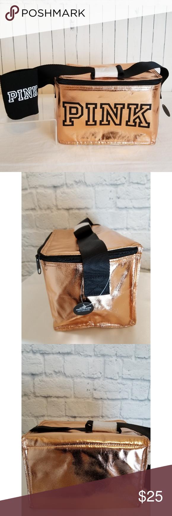 77e05e83929a1 PINK Victoria's Secret ~ 2018 Gold Logo Cooler Bag *New* VS PINK ...
