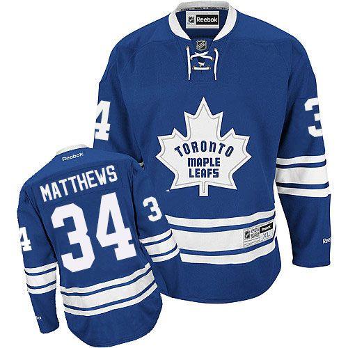 Reebok Toronto Maple Leafs  34 Women s Auston Matthews Authentic Royal Blue  New Third NHL Jersey 73d0e7137