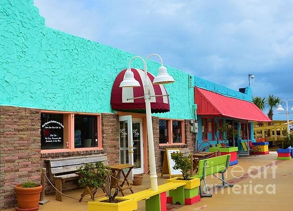 Colorful Carolina Beach Store Fronts By Bob Sample Beach Stores Carolina Beach Store Fronts