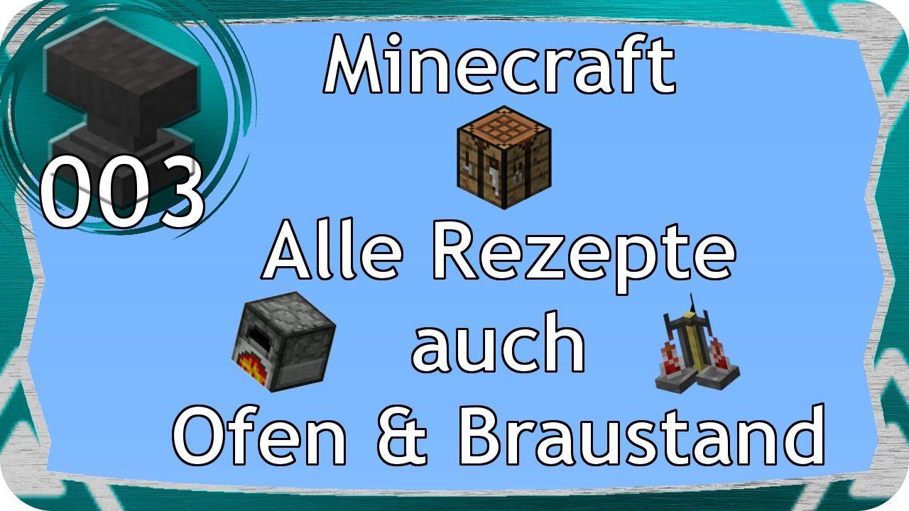 Minecraft Alle Crafting Rezepte Braustand Ofen CLM Gaming - Minecraft crafting spiele