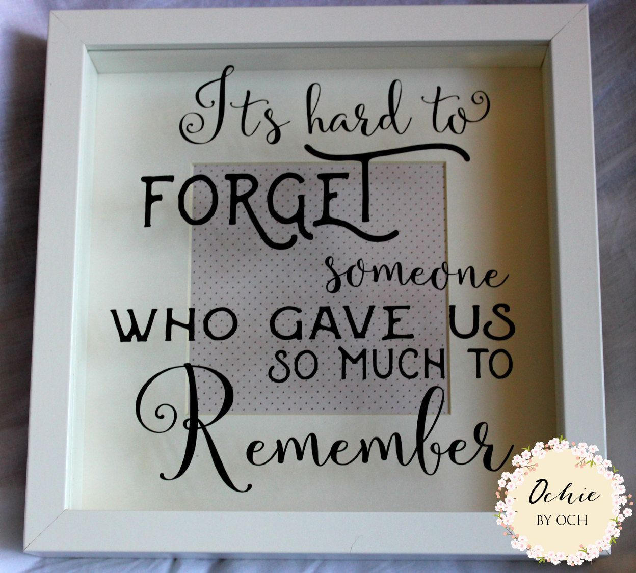 Ornaments for loved ones lost - Memorial Frame Sentimental Keepsake Box Frame With A Lovely Quote Rememberance Frame It S