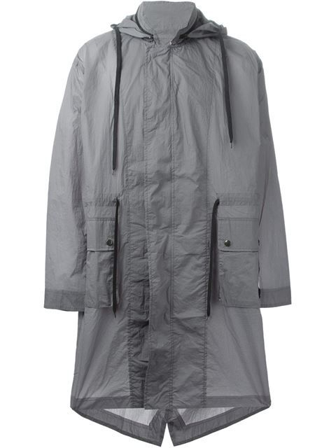 3e392f0e3cebf Shop Silent Damir Doma hooded parka coat in Vitkac from the world's best  independent boutiques at farfetch.com. Over 1000 designers from 300  boutiques in ...