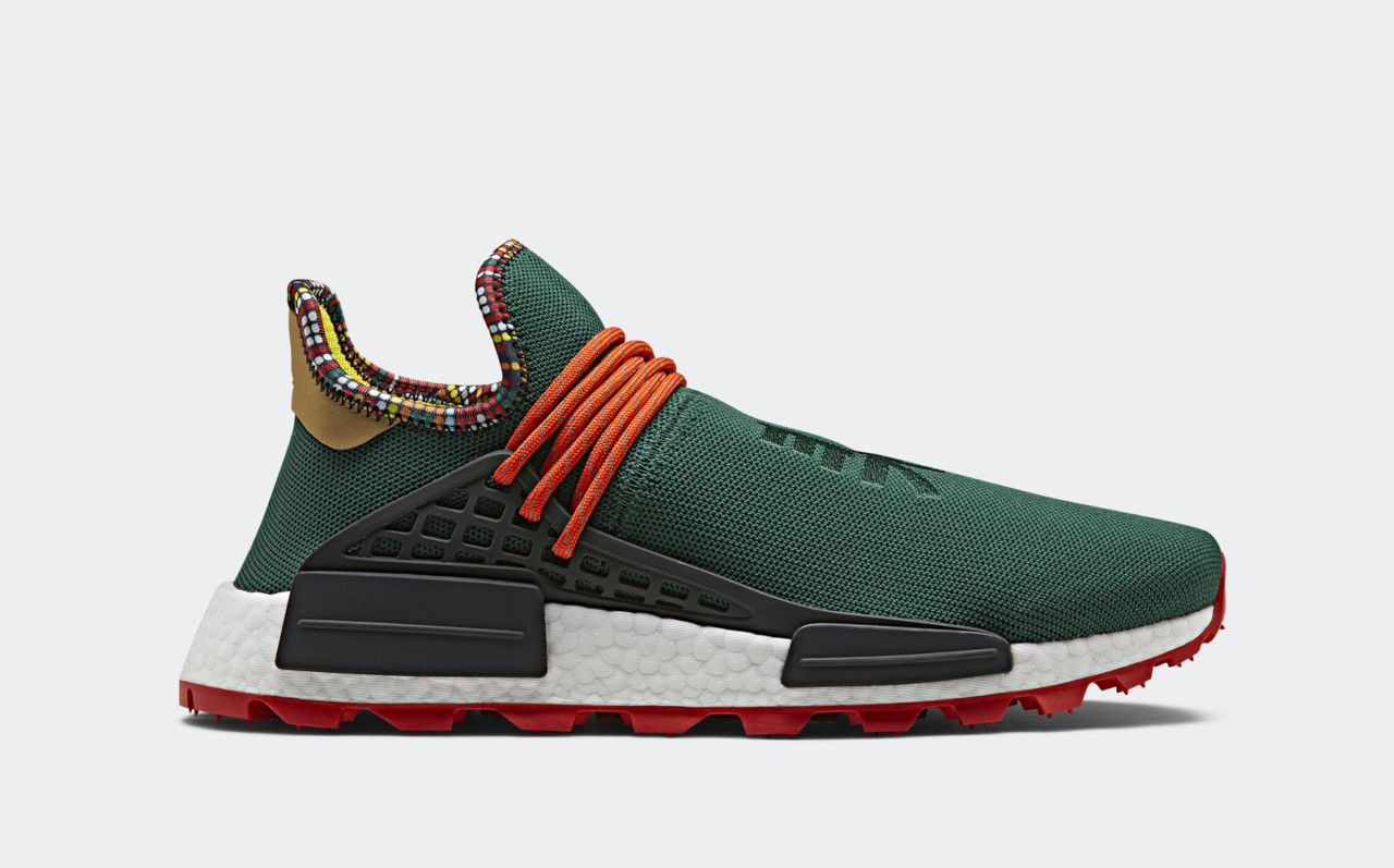 wholesale dealer 7d863 61413 Bold and beautiful colors and patterns inspired by East Africa adorn the  new adidas Pharrell Williams SOLARHU capsule collection, providing a  spirited take ...