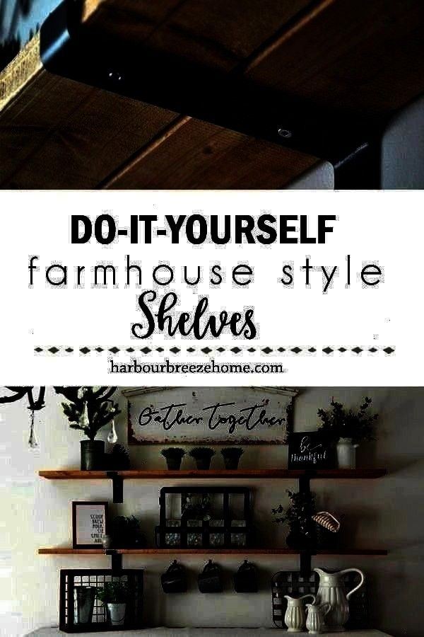 Harbor Breeze Home  Everyone from  How to Make Fixer Upper Style Farmhouse Shelves  Harbor Breeze Home  Everyone from  to Make Fixer Upper Style Farmhouse Shelves  Harbo...