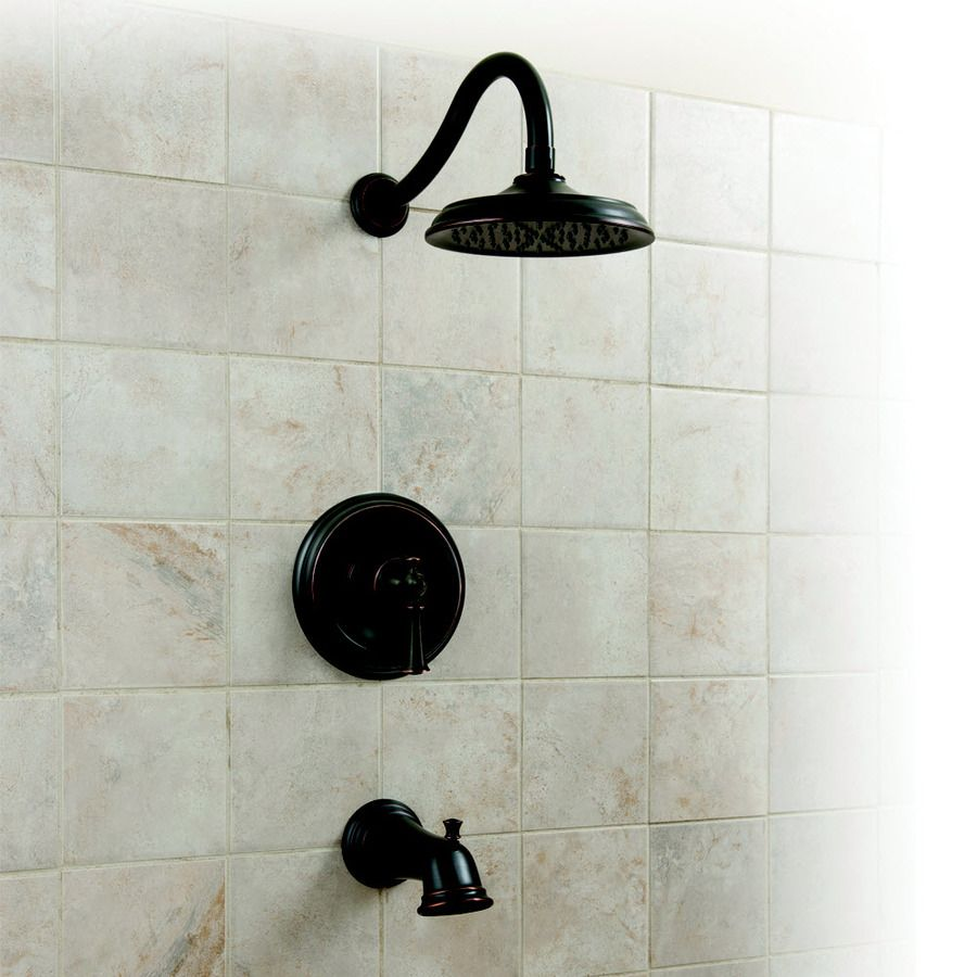Shop Aquasource Glyndon Oil Rubbed Bronze 1 Handle Tub And Shower