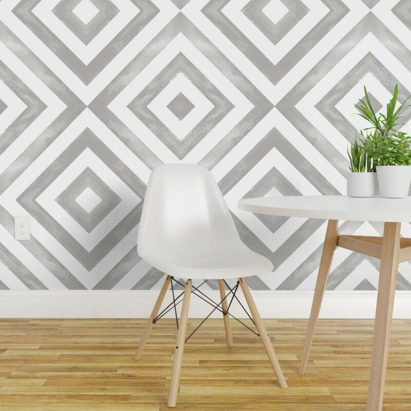 Wrought Studio Cory Geometric Removable Peel and Stick ...
